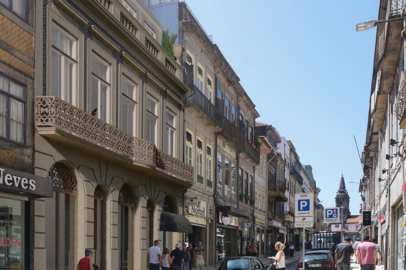 Reabilitação de edifício na Rua Fernandes Tomás