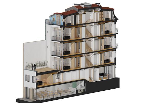 Reabilitação de edifício na Rua Sto. Ildefonso